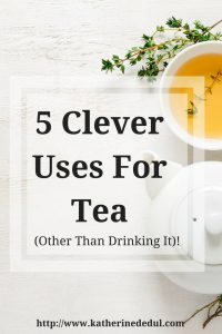 Have a ton of tea that you don't want to drink, but don't want to toss out either? Click here for non-drinking ideas to use up that tea!