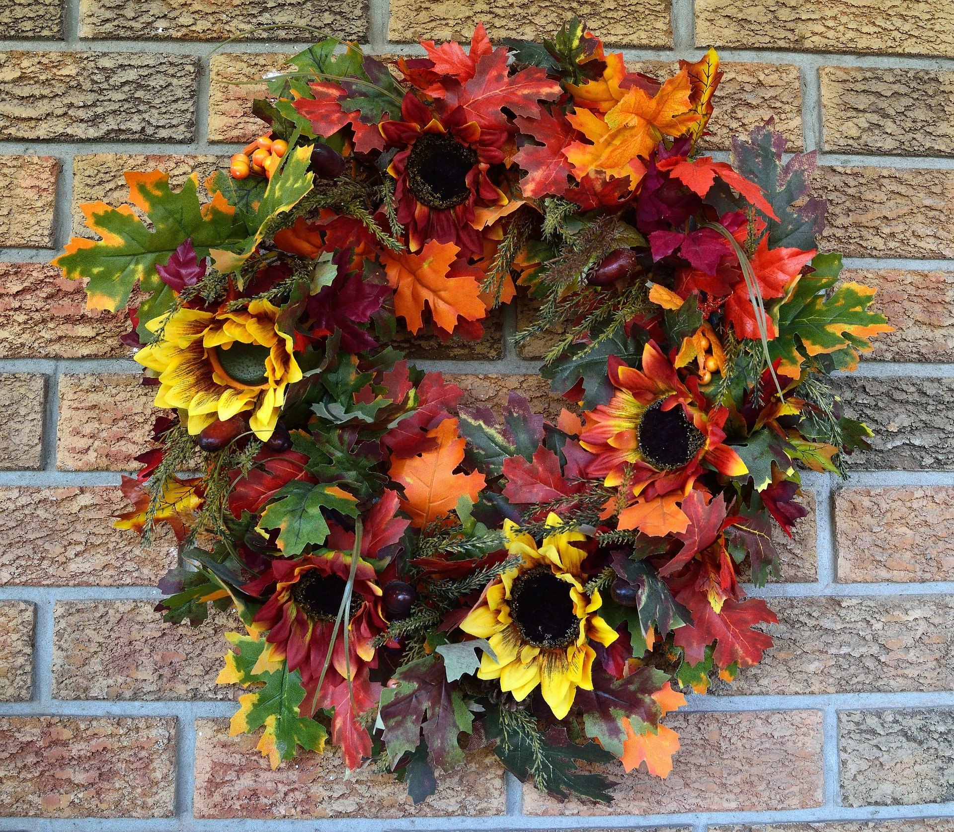 Wreaths are super easy to make and instantly dress up a door!