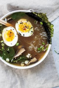 Soups can be hearty like this pho style one or be much more simple in the ingredient list