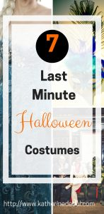 Surprise you have a Halloween Party to go to and no time to plan, check out my tips for quick costumes! #Hallowen #Costumes