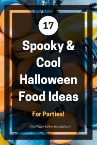 Its Halloween season once again and parties are happening, check out my favorite food ideas to make yours a spooktacular blowout! #HallowenParties #Halloween