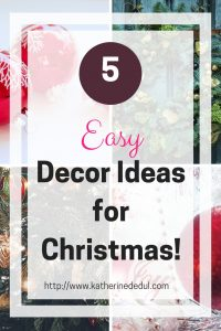 Christmas decorating can get expensive, check out my ways to save time and money!