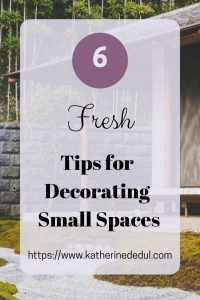 Small spaces can be challenging to decorate, check out my tips to create some space!