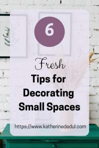 Small spaces can be challenging to decorate, check out my tips to create space!