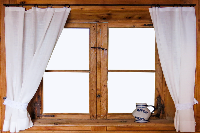 Curtains that just frame the window can create the illusion of less space, the taller your curtains, the more space your brain seems to think you have!