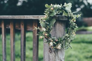 Sometimes a wreath with some greenery and spring flowers is all you need!