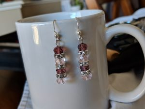 "My crystal ""tassel"" earrings also incorporate crystal spacers for added punch!"
