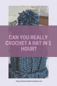 Crocheting can take time, but can you really complete a project in one hour? Check out my experiment!