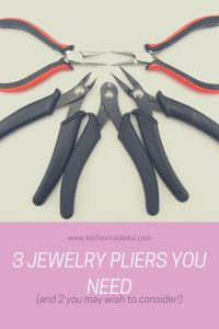 Jewelry making pliers are essential to most beading projects