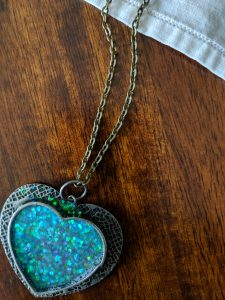 Now my pendant is ready to wear, with a chain attached!