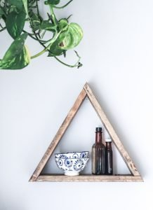 Shelves of rustic wood can get a great addition!