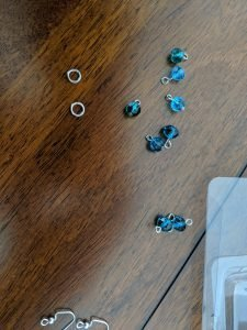 start by looping some beads onto headpins