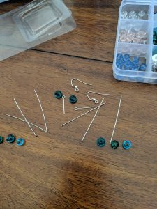 You'll need a few things to get started with this fun set of dangly earrings