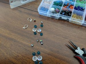 this is a slightly more complex string of crystal beads