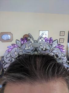 After the glue dries, your tiara is ready to wear!