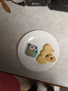 Cookie monster fudge and ghost shortbread cookies, I'm in heaven!