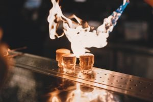 Flaming drinks can be popular at Halloween, whatever floats your boat I say!