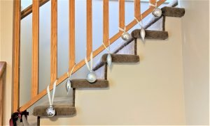 You can also hang them on your stairs!