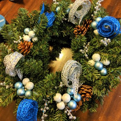 Wreaths are very easy to put together and make for beautiful Christmas decorations!