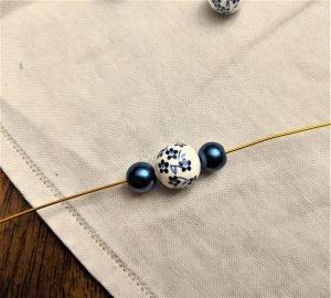 Start your hoop earrings by beading the hoop portion!