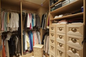 Don't neglect your closet when cleaning up!