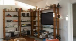 Shelving in your living areas are great storage!