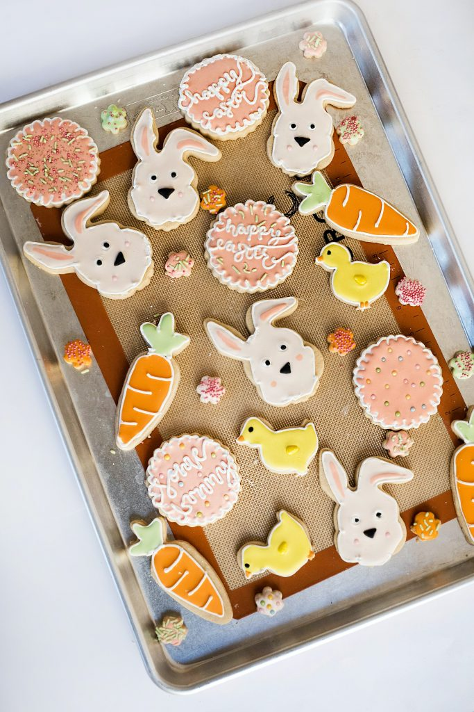 Finish off your easter dinner with something sweet like these easter shaped cookies!