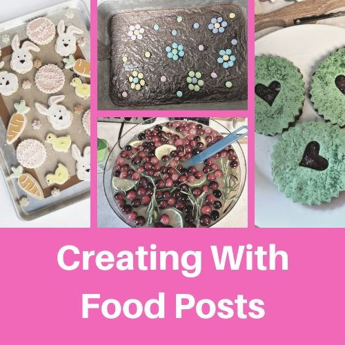 creating with food posts button