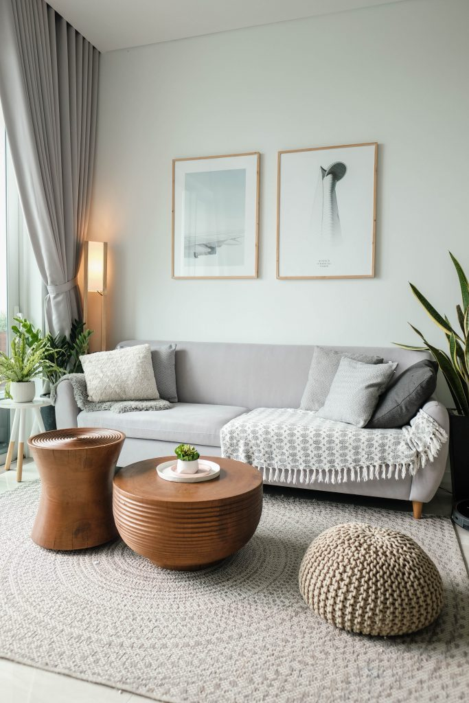 A houseplant or two will add a bit of life into your living room!