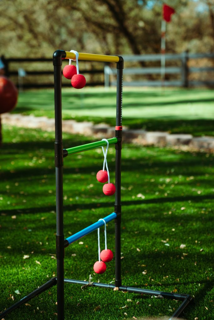 Ladder golf kits are usually made with wood, but PVC pipe is so much more economical!
