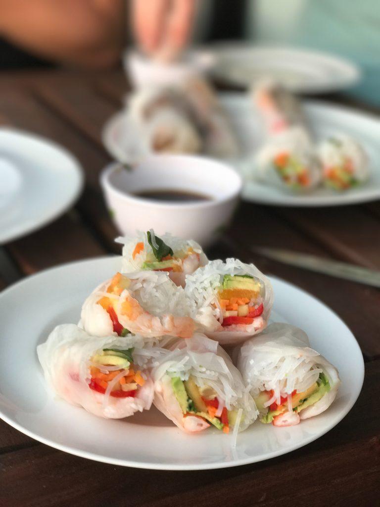 Vietnamese salad rolls are a great summer dinner idea!