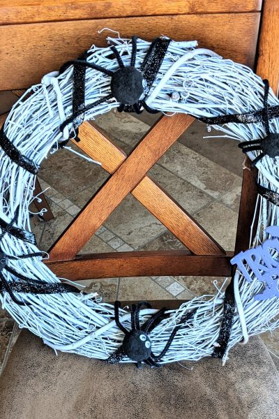 """Continue reading to learn how to make this cool and """"spidery"""" wreath!"""
