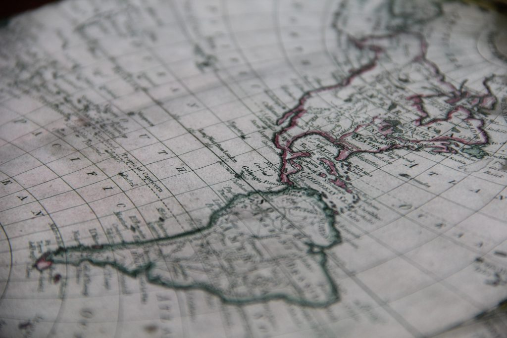 A map can make a beautiful piece of decor in your home!