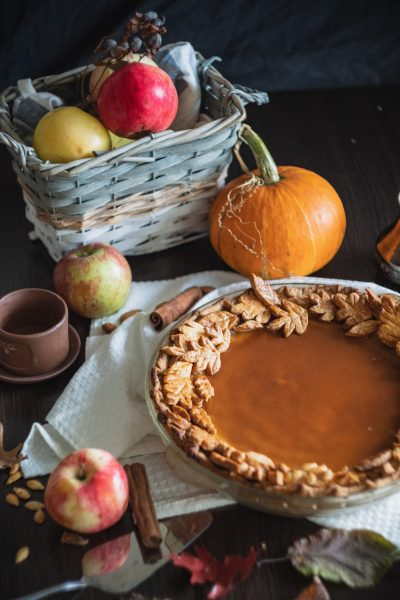 Pumpkins and apples make a great pie filling!