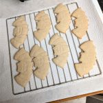 Once the edges of the bats are browning, your cookies are baked!