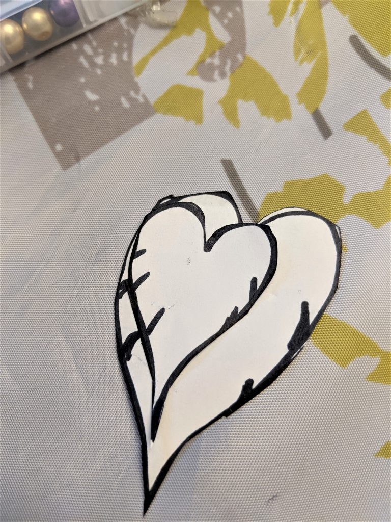 Your stencil can be drawn by your own hand or one you find on the internet!