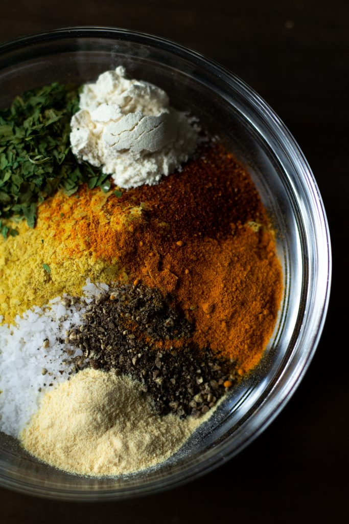 Coffee can be added to a spice mix like this one to make a delicious barbeque rub for meat!