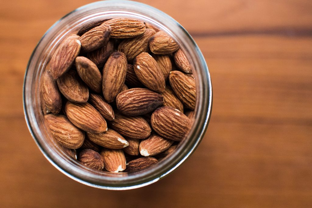 Nuts, just like these almonds, can be dressed up with spices and sweeter things like sugars!