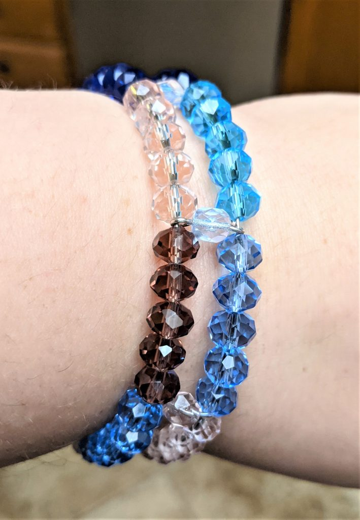 Once you loop closed the second strand, your bracelet is ready to wear!!